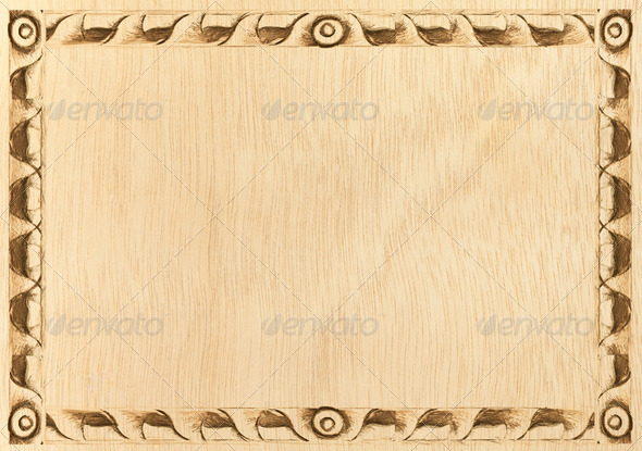 wood frame carved - Stock Photo - Images