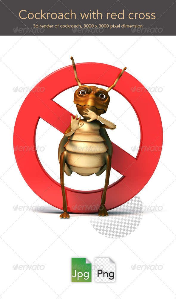 GraphicRiver Cockroach with Red Cross 3354849