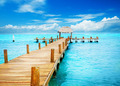 Vacation in Tropic Paradise. Jetty on Isla Mujeres, Mexico - PhotoDune Item for Sale