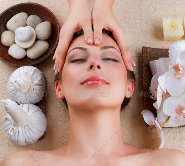 Facial Massage in Spa Salon - Stock Photo - Images