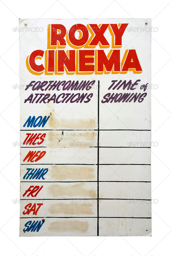 Retro Roxy Cinema sign - Stock Photo - Images