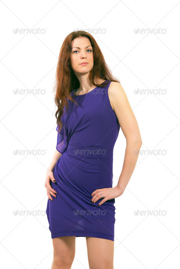 Girl in dress - Stock Photo - Images