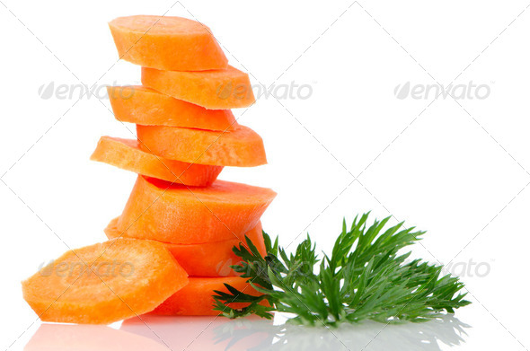 Pile of carrot slices - Stock Photo - Images