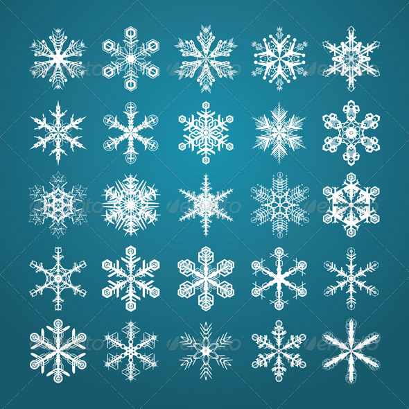 GraphicRiver Snowflakes Set 3354964