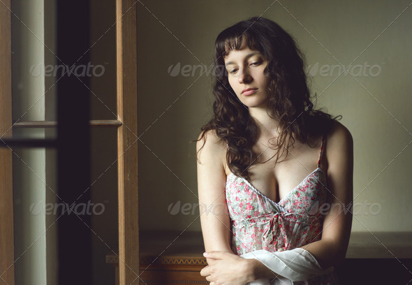 sad woman - Stock Photo - Images