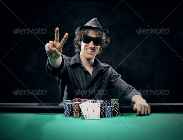 Texas Hold'em poker: the winner - Stock Photo - Images