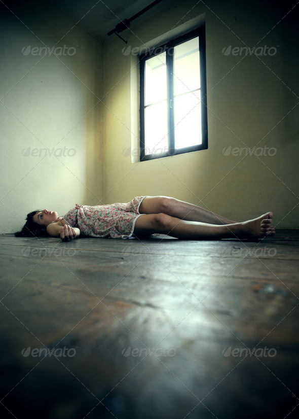 dead woman - Stock Photo - Images
