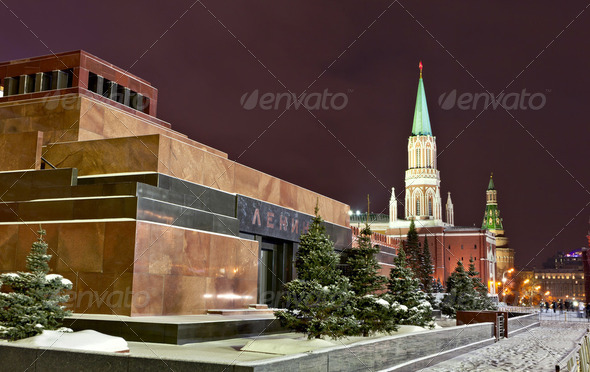 Lenin&#x27;s Mausoleum, Red square, Moscow - Stock Photo - Images