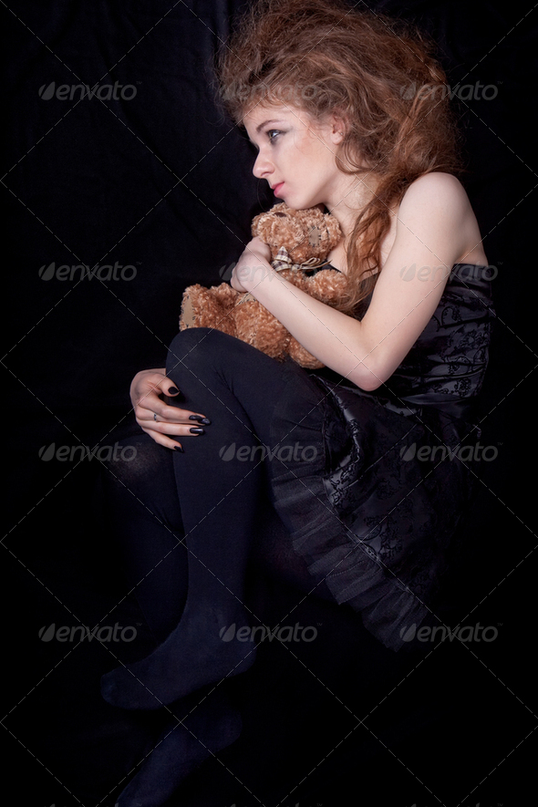 Lonely girl - Stock Photo - Images