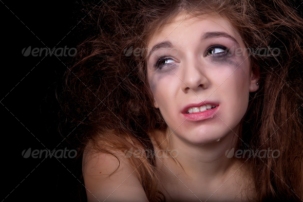 Crying girl - Stock Photo - Images