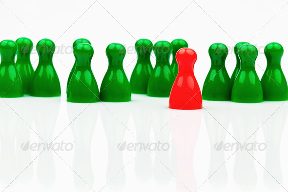 individuality within the team. be different. - Stock Photo - Images
