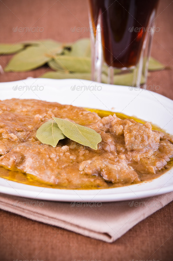 Escalope with marsala wine. - Stock Photo - Images