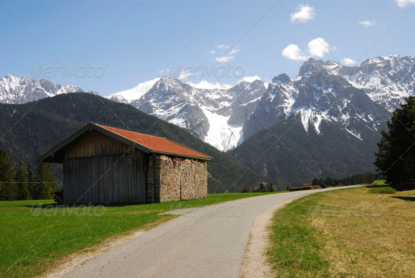 Alpine Landscape - Stock Photo - Images