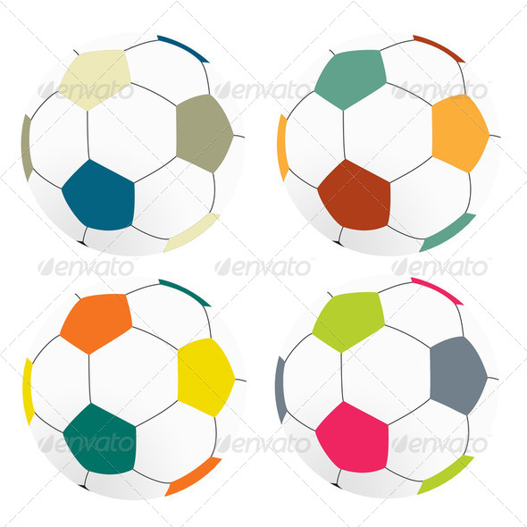 Color football soccer on white background, isolated - Stock Photo - Images