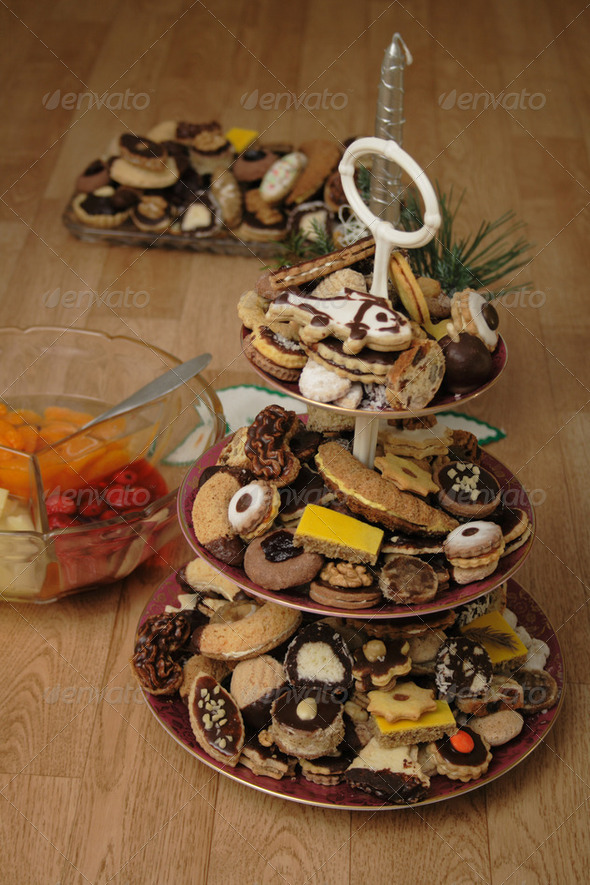 czech christmas cookies - Stock Photo - Images