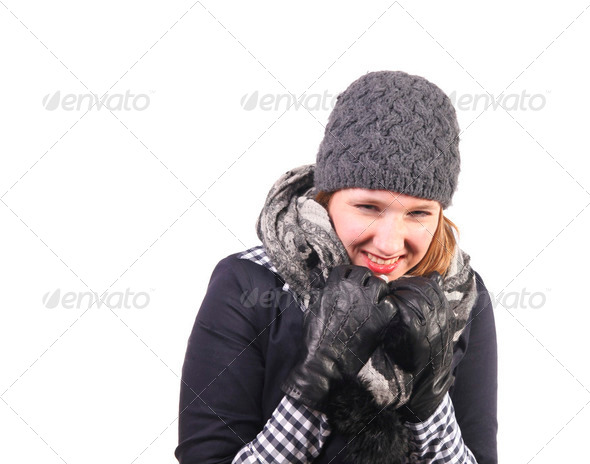 Laughing in the cold - Stock Photo - Images