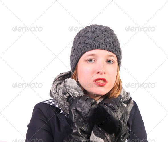 Pretty girl with hat - Stock Photo - Images