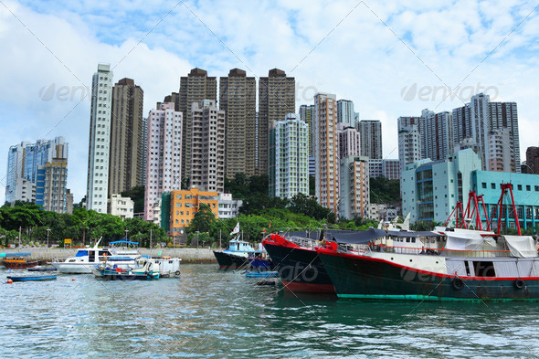 typhoon shelter in Hong Kong, aberdeen - Stock Photo - Images