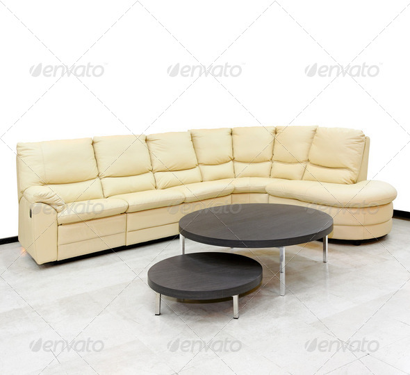 Corner settee - Stock Photo - Images