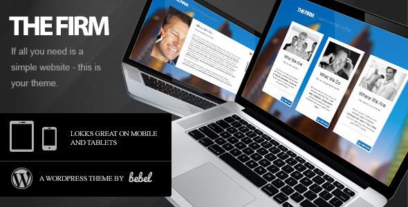 ThemeForest The Firm Simple Company WordPress Theme 2491640