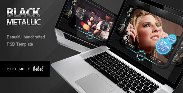 Black Metallic Special FX - Entertainment PSD Templates
