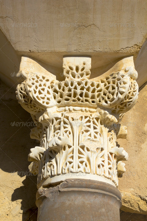 Arabic capitel. X century - Stock Photo - Images