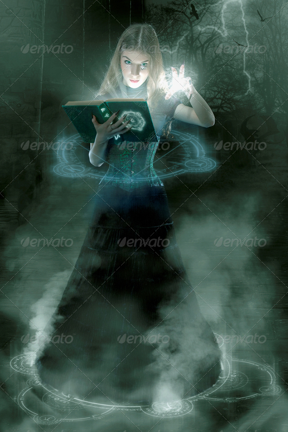 Young sorceress - Stock Photo - Images