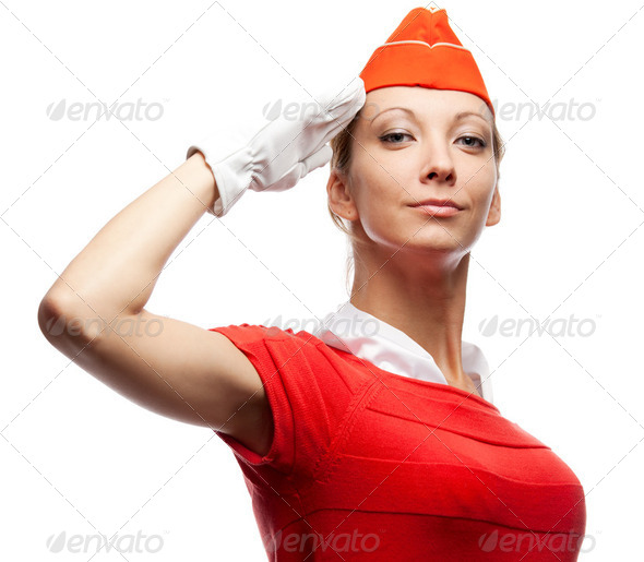 Pretty stewardess - Stock Photo - Images