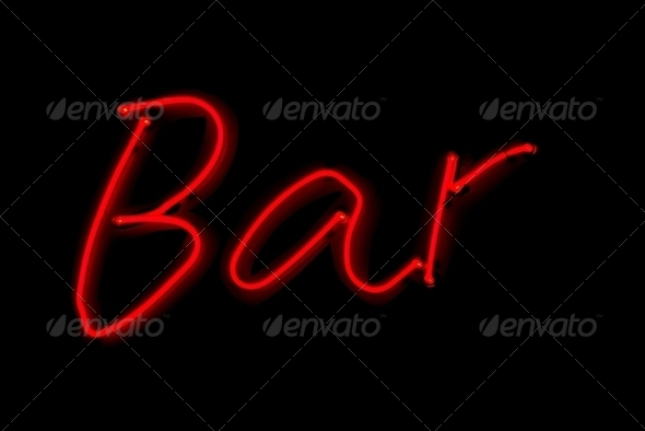 Bar sign - Stock Photo - Images