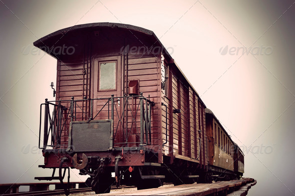 vintage train - Stock Photo - Images