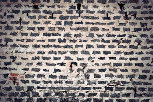 Ancient brick wal - Stock Photo - Images