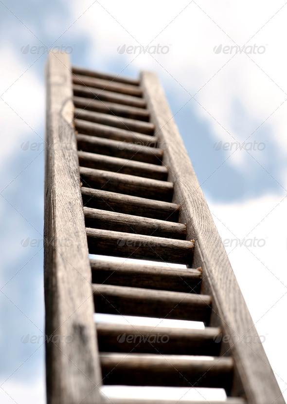 Ladder on sky - Stock Photo - Images