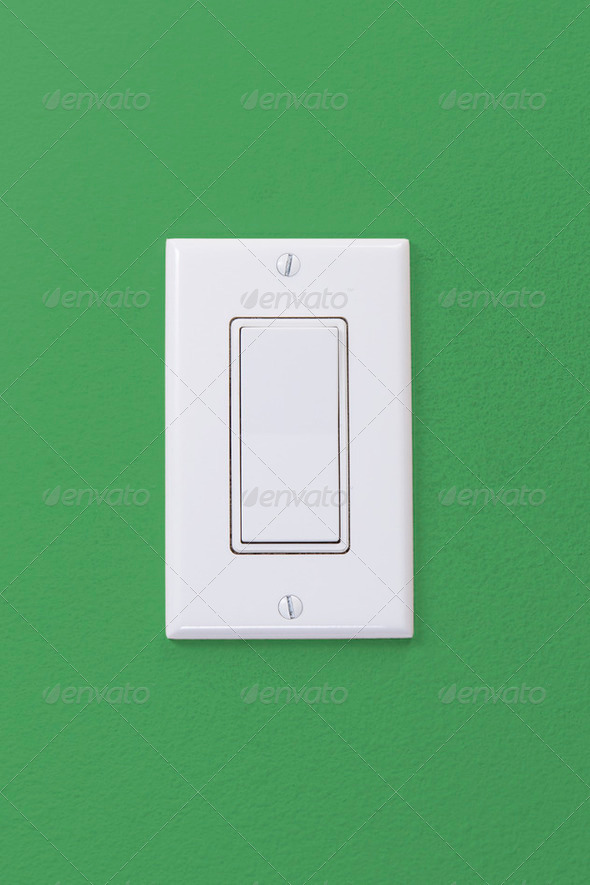 Wall Light Rocker Switch - Stock Photo - Images