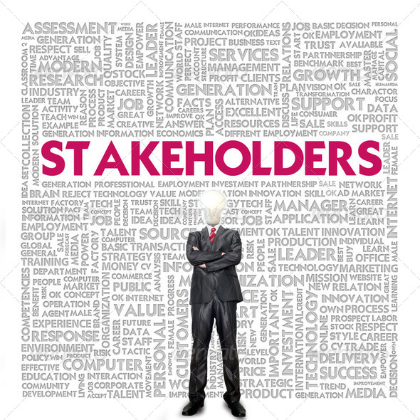 Business word cloud for business concept, Stakeholders - Stock Photo - Images
