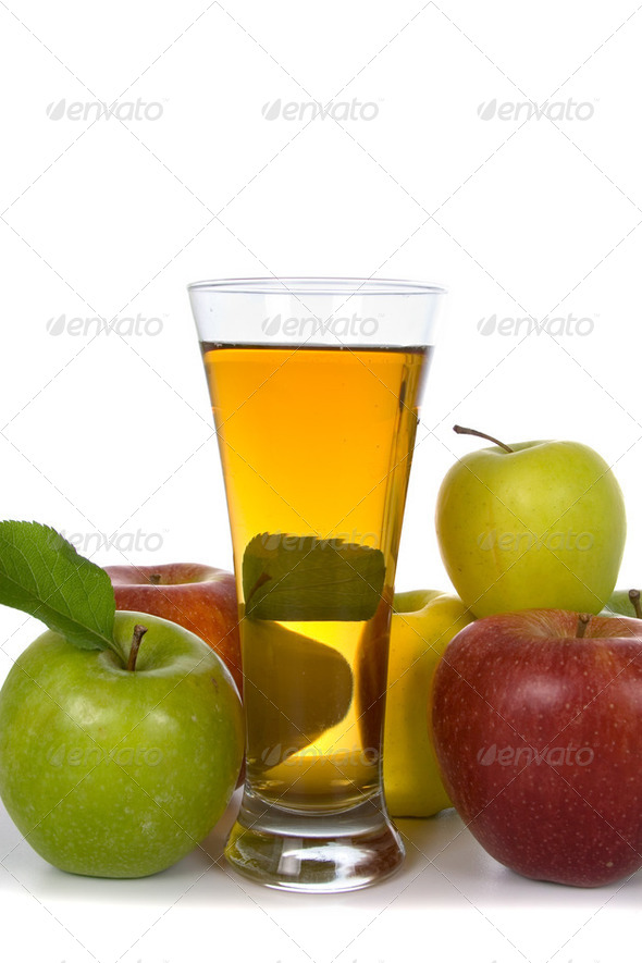 Apple juice and apples - Stock Photo - Images