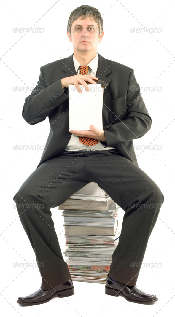 Presenting Empty White Book - Stock Photo - Images