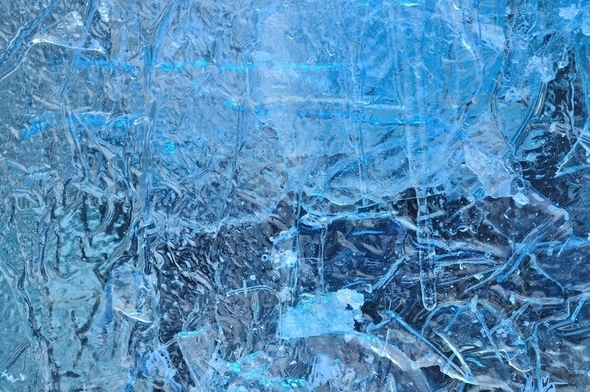 Texture Background of Artificial Iceberg - Stock Photo - Images
