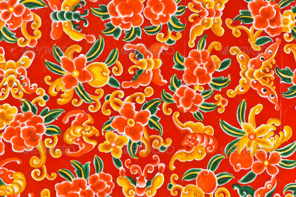 Bright Thai Painting - Stock Photo - Images