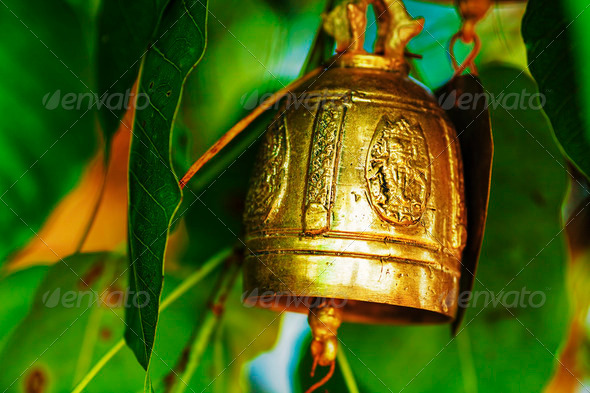 Buddhist wishing bell - Stock Photo - Images