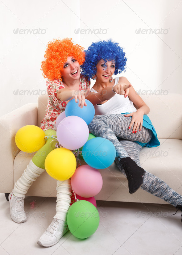 Girls clown. - Stock Photo - Images