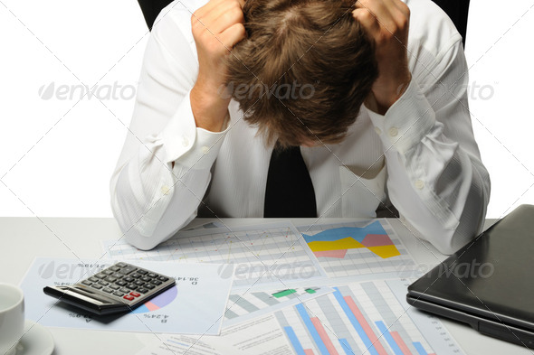The businessman -  bankrupt - Stock Photo - Images