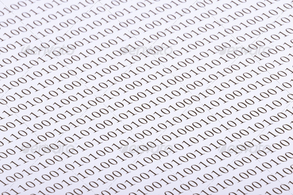 Abstract binary code - Stock Photo - Images