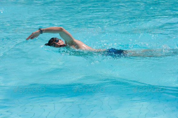 Swimming man - Stock Photo - Images