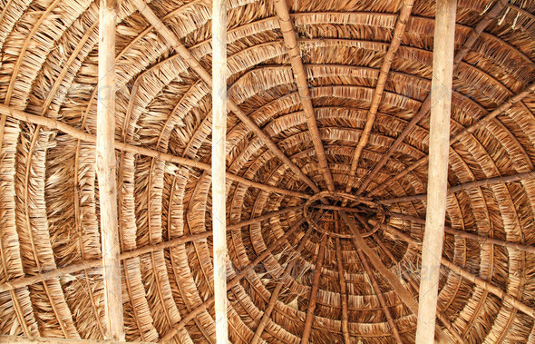 Embera Indian Roof Detail - Stock Photo - Images