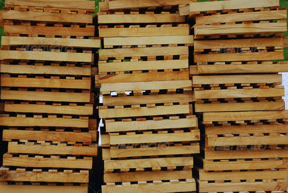 cargo pallets - Stock Photo - Images