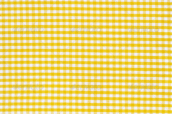 texture white yellow tablecloth - Stock Photo - Images