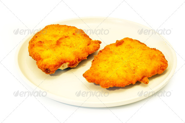 fried cordon blue - Stock Photo - Images