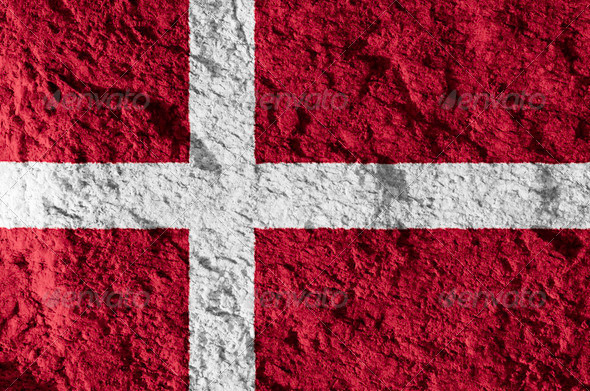 Denmark grunge flag - Stock Photo - Images