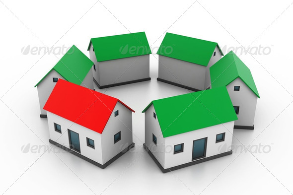 Select your house  - Stock Photo - Images