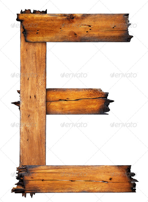 One letter of wooden alphabet - Stock Photo - Images